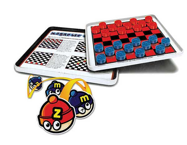 Checkers Magnetic Travel Game