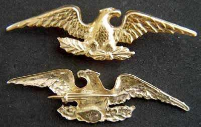 1840s Colonel War Eagle sterling 1840s Colonel, Colonel, Sterling, silver with gold, gold plate, colonel strap