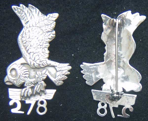 WWI Air Service 278th Aero Squadron Pin Sterling Silver WWI, Army Air Service, 278th, Sterling pin