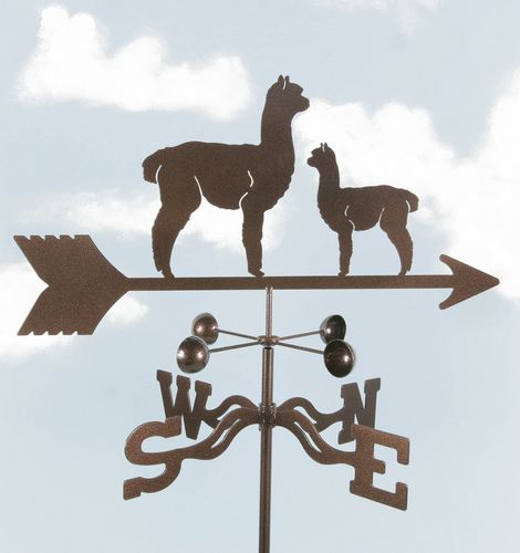 Alpaca with baby Weathervane