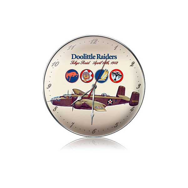 "Doolittle Raiders Clock  (14"" dia.)"
