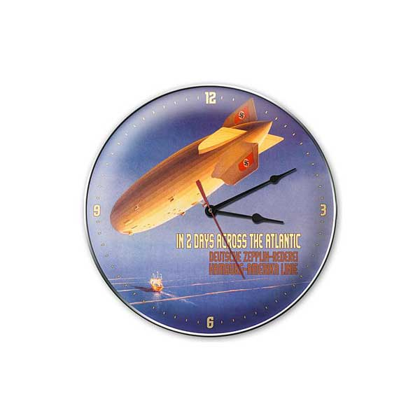 "Deutsche Zepplin Clock  (14"" dia.)"