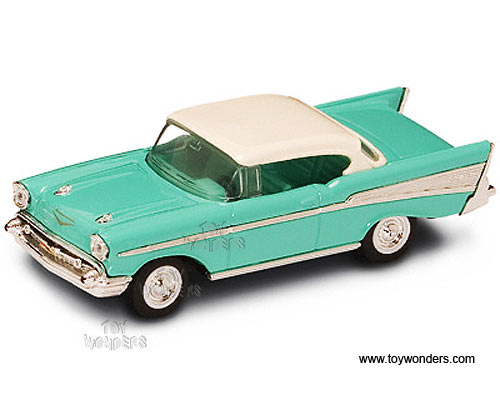 Chevrolet Bel Air Hard Top (1957, 1:43, Turquoise) 94201 By Yatming Road  Signature (Item No: 94201TQ): Available Online At Howland Trading Company